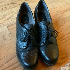 Heeled Oxfords